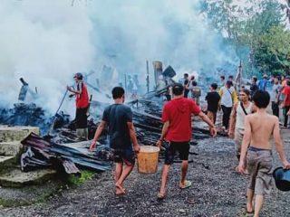 Rumah Warga Tik Kuto Ludes Dilalap Si Jago Merah, Kerugian Ditaksir Capai 150 Juta
